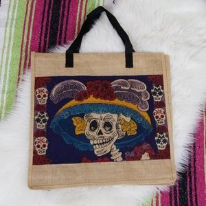 Day of the Dead Skeleton Tote Bag